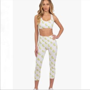 Morgan Stewart Lime Legging & Sport Bra Set